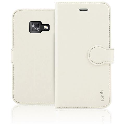 FONEX Flip Cover Custodia per Galaxy A5 in TPU Colore Bianco