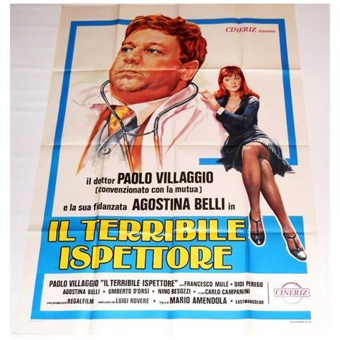 Vendilosubito Manifesto A2 Originale Del Film Il Terribile Ispettore Con Paolo Villaggio