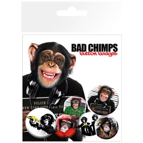 GB EYE Bad Chimps - Mix (badge Pack)