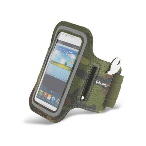 """CELLY Fascia da braccio XXL Universale per smartphone fino a 5"""" - Verde militare"""