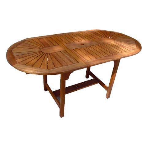 Tavolo ovale in legno da giardino estensibile 110 x 180