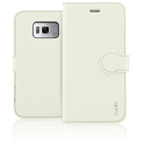 FONEX Flip Cover Identity per Galaxy S8 Plus - Bianco