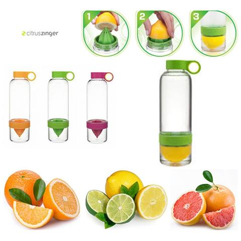 Borraccia Citrus Zinger Bottiglia Infusione Spremiagrumi Corsa Palestra