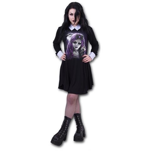 SPIRAL Goth Doll - Peterpan Collar Baby Doll Ls (Vestito Donna Tg. S)