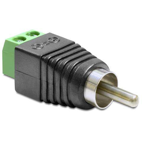 DeLOCK 65417 RCA 2p Nero, Verde, Argento cavo di interfaccia e adattatore