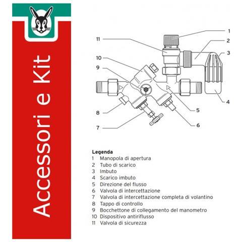 305827 Kit Gruppo Sicurezza Per Bollitori, 200 A 1000 Litri