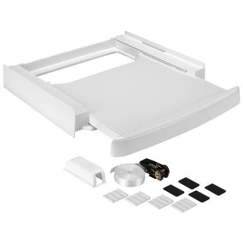 Image of Kit di Sovrapposizione Asciugatrice con Piano Scorrevole Bianco