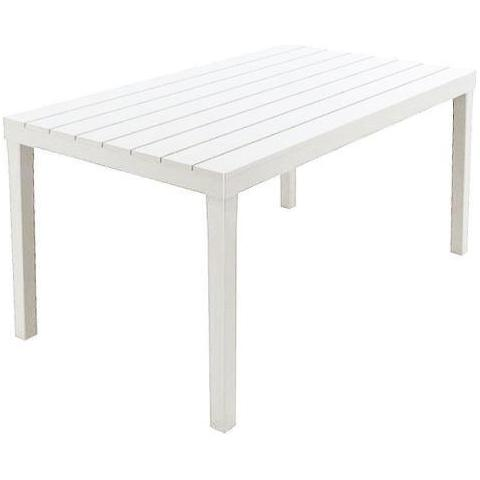 IPAE-PROGARDEN Tavolo sumatra bianco 138x80x72 cm