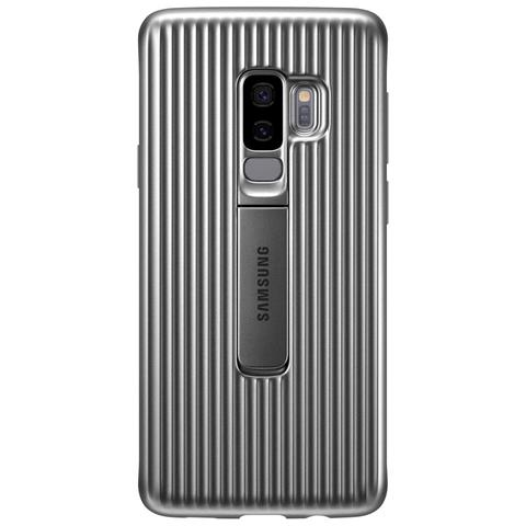 SAMSUNG Cover Protective Standing per Galaxy S9+ colore Argento