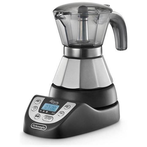 EMKP21B Alicia Plus Macchina da Caffè Potenza 450 Watt Capacità 1/2 Tazze Colore Inox / Nero