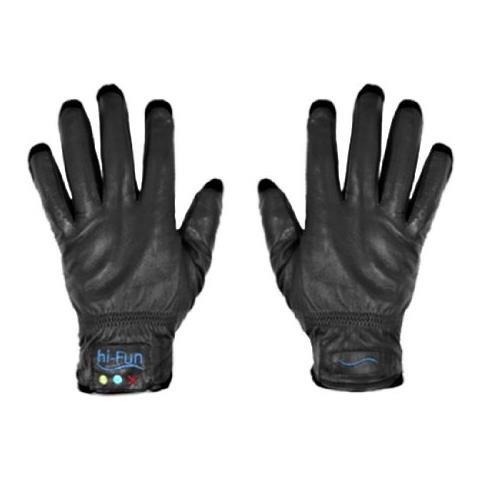 HI-FUN Hi-call Leather Black Medium - Guanto Cornetta Bluetooth