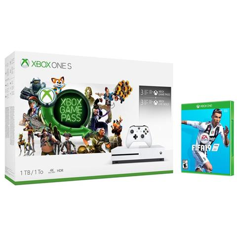 Image of Console Xbox One S 1TB + 3 Mesi Gamepass + 3 Mesi Xbox Live Gold + FIFA 19 Limited Bundle