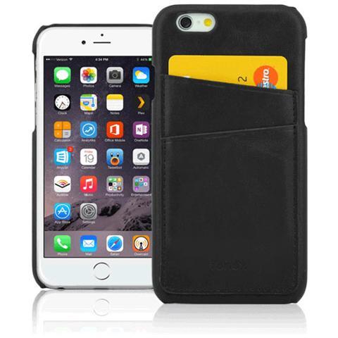 FONEX Executive Pocket Cover in Ecopelle con Porta Card per iPhone 6 Plus / 6S Plus Colore Nero