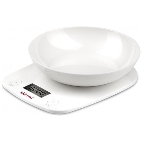 Bilancia da Cucina Elettronica con Ciotola Colore Bianco