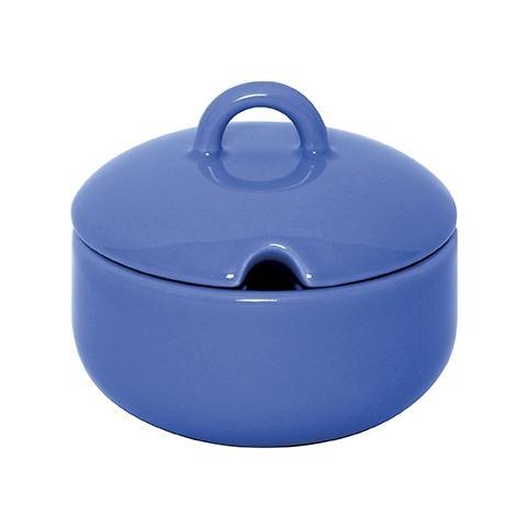 Formaggera zuccheriera in ceramica colore azzurro