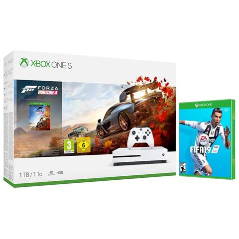 Image of Console Xbox One S 1 TB + Forza Horizon 4 + 14gg Xbox Live Gold + 1 Mese Gamepass + FIFA 19 Limited Bundle