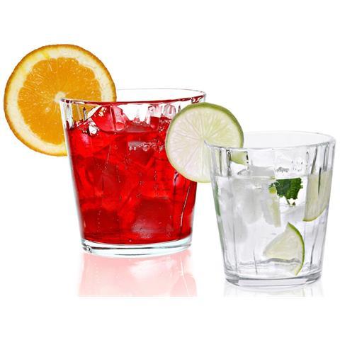 Bicchieri 6 Acqua Cl 42 + 6 Vino Cl 34 Tintoretto In Finissimo Vetro Set 12 Pz Vidivì