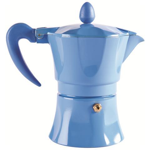 Caffettiera 1 Tazza - Modello Aroma Color Azzurro