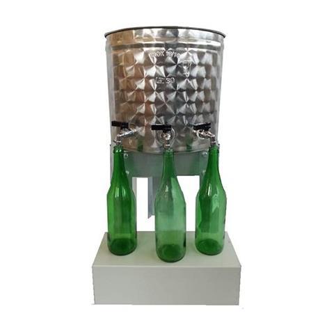Contenitore Olio / vino In Acciaio Inox Con Riempitore Rapido