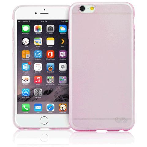 FONEX Inv Cover Ultra Sottile 0,2 mm in Morbido TPU per iPhone 6/6S Colore Rosa Trasparente