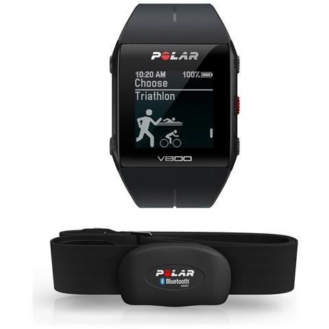 Polar Sportwatch V800 Bluetooth con GPS per Attività Fisica e Cardiofrequenzimetro Resistente all'acqua 3ATM Nero