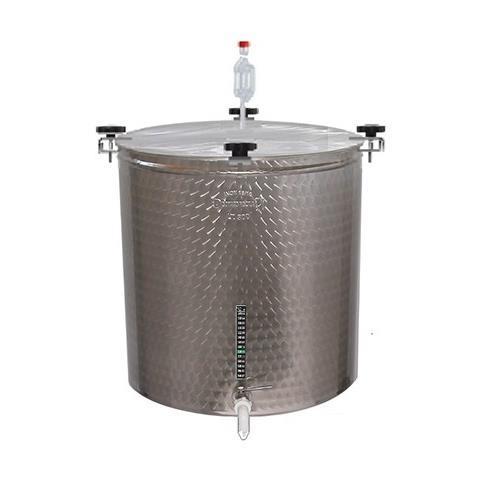 Contenitore Birra In Acciaio Inox Con Kit - 50lt - Ø 370mm - H 500mm
