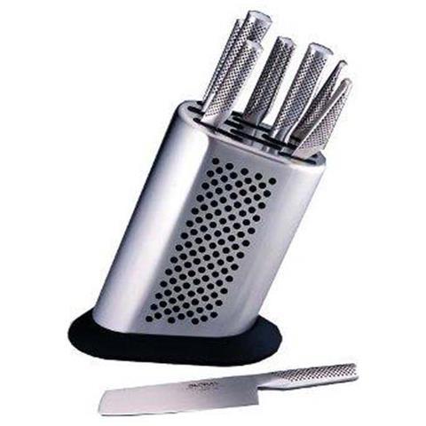 Ceppo coltelli 8pz. vuoto lisci serie g g-888p acciaio inox