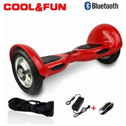 Image of 10 Pollici Hoverboard Smart Balance Monopattino Elettrico Pedana Scooter Bluetooth Due Ruote Rosso