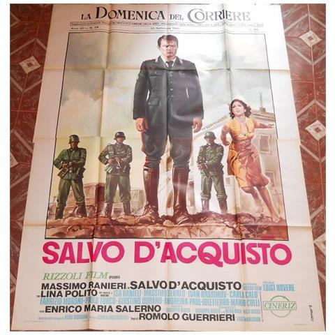 Vendilosubito Manifesto 4f Originale Del Film Salvo D' acquisto Con Massimo Ranieri 1974