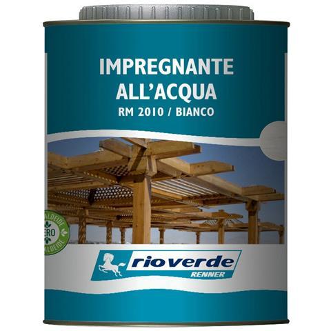 6pz Rioverde Impregnante Ceroso Applicabile A Pennello O A Spruzzo Bianco Lt 0,750 Essicaz...
