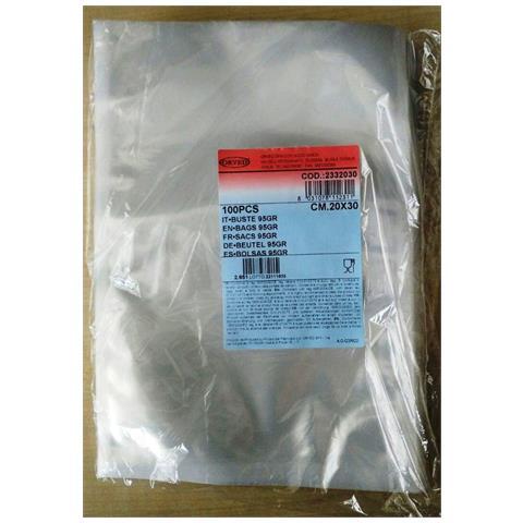 Buste Sottovuoto Lisce Varie Misure 20x30 Cm Da Gr 95 In Confezione Da 100 Pezzi (20x30)