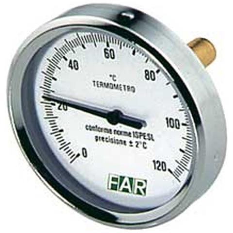 Termometro Bimetallico Ø 80mm 2600