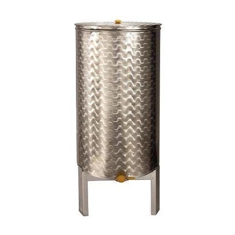 Contenitore Maturatore Miele In Acciaio Inox - 140kg - Ø 420mm - H 750mm