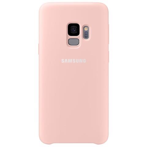 SAMSUNG Cover semirigida in Silicone per Galaxy S9 colore Rosa