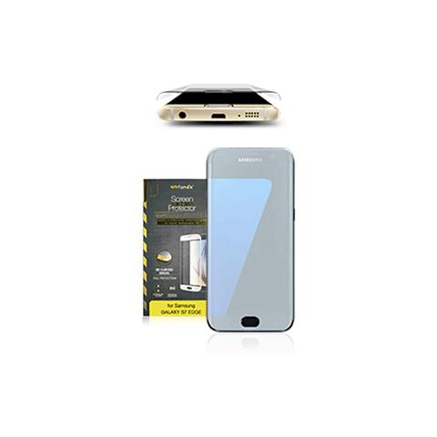 FONEX Vetro Temperato 3D Curvo Protezione Schermo da Bordo a Bordo 0,2 mm per Galaxy S7 (1Pz) Colore Bianco
