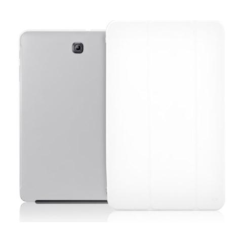 """FONEX Crystal Slim Custodia a Libro con Back Trasparente per Galaxy Tab S2 8"""" Colore Bianco"""