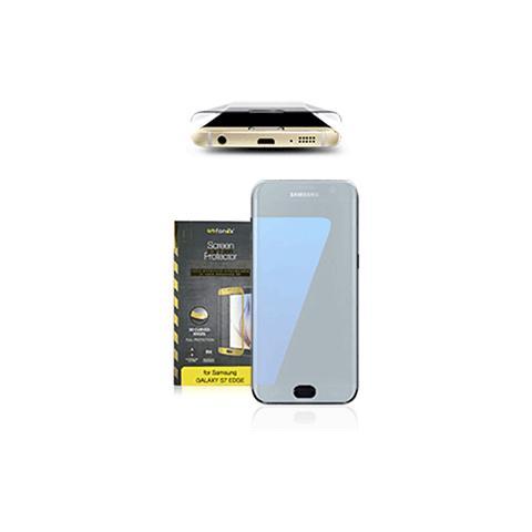 FONEX Vetro Temperato 3D Curvo Protezione Schermo da Bordo a Bordo 0,2 mm per Galaxy S7 (1Pz) Colore Nero