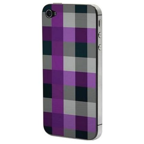 Network Shop Adesivo Lubique Skin Sticker Sk2104 Scacchi Nero / viola Per Iphone5