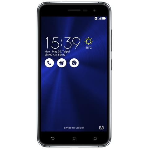 """ASUS Zenfone 3 Nero 32 GB 4G/LTE Dual Sim Display 5.2"""" Full HD Slot Micro SD Fotocamera 16 Mpx Android Italia"""