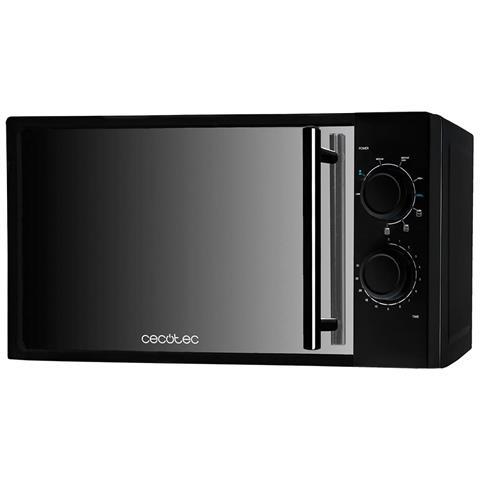 Microonde nero con specchio frontale, Input 1200 W, Output 700 W, Grill De 900 W, 20 litri, 9 livelli