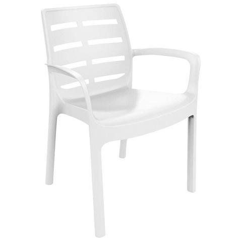 Sedia Impiilabile Colore Bianco - Modello Borneo