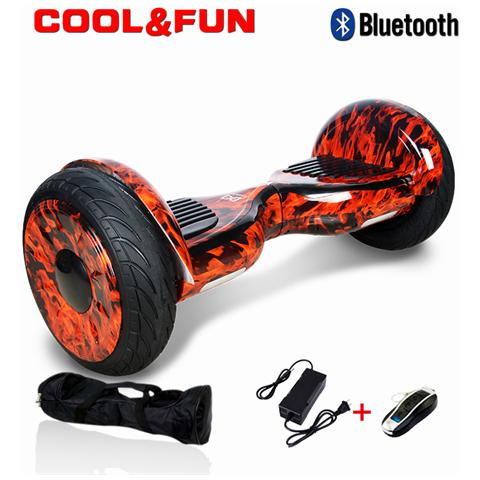 Image of 10 Pollici Hoverboard Smart Balance Monopattino Elettrico Pedana Scooter Bluetooth Due Ruote Jm Fire
