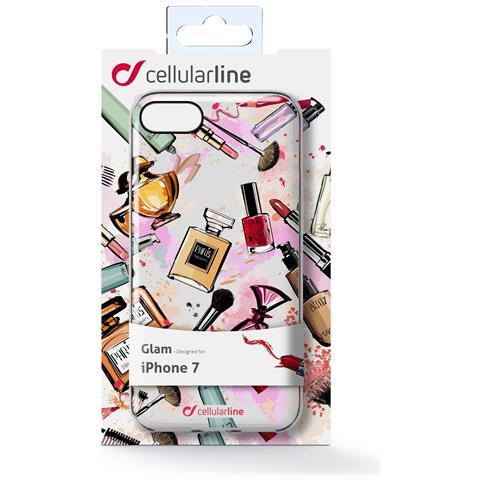 CELLULAR LINE Custodia Back Glam per iPhone 7 in Gomma Multicolore