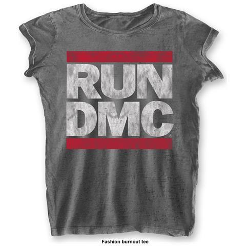 ROCK OFF Run Dmc - Dmc Logo Grey (T-Shirt Donna Tg. S)