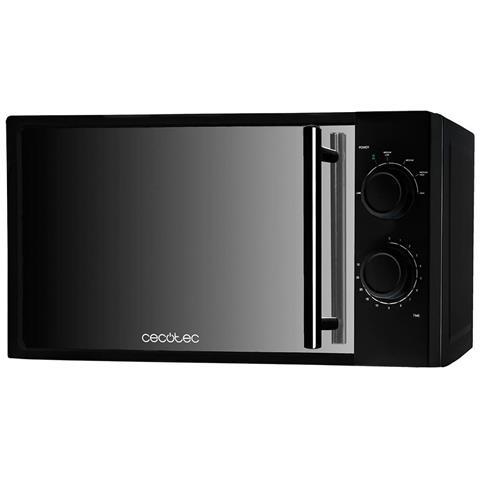 Microonde nero con specchio frontale, 6 livelli, 20 litri, Input 1200 W, Output 700 W