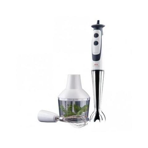HB 2000 Frullatore ad Immersione Capacità Tritatutto 0.6 Litri Potenza 600 Watt Colore Bianco / Grigio