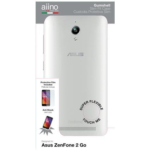 AIINO Custodia Gumshell per Asus ZenFone 2 GO - Clear