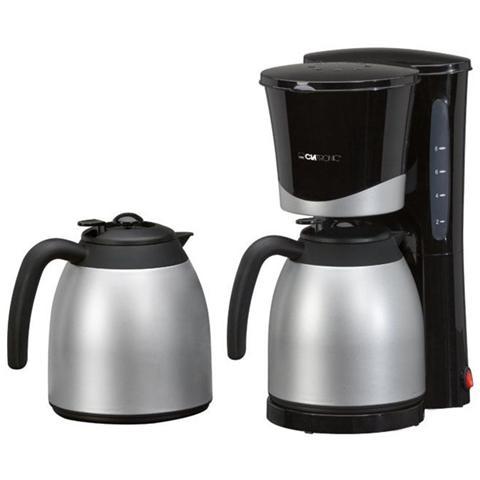 KA 3328 Macchina da Caffè Americano 8 / 10 Tazze Potenza 870 Watt Colore Inox / Nero
