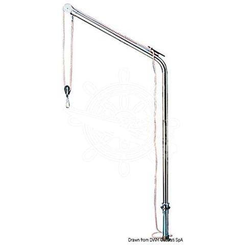Gruetta inox tubo 40 mm max 125 kg
