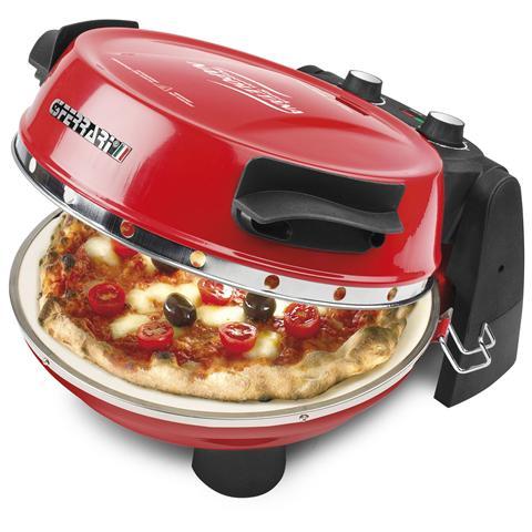 G1003200 Forno Pizza Pizzeria Snack Napoletana 1200 Watt Colore Rosso / Nero